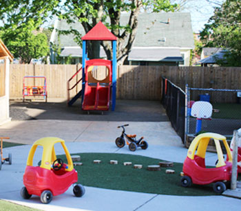 Picture of Playground with 2 yellow and red toy cars