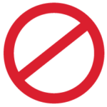 Prohibited Sign in red